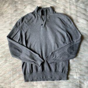 Hugo Boss Enricco Quarter Zip Elbow Patch Sweater